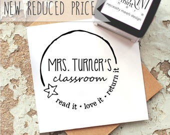 Teacher Stamp Self-Inking- Custom Book Stamp- Read Love Return- Personalized Teacher Gift Stamper- From The Classroom Of Stamp- CS 10183
