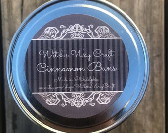 Cinnamon Buns Scented Soy Candle // baking candle // dessert candle //artisan candle