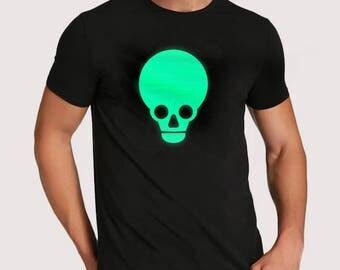 Skull T-shirt (Glows in the dark!)