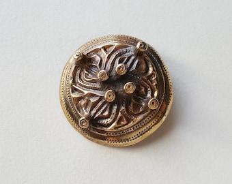 "Kalevala Koru Bronze ""Kymenlaakson solki"" Brooch, Finland (F1263-03)"