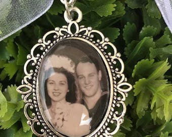 2 Wedding Bouquet charm kit -Photo Pendants charms for family photo (includes everything you need including instructions)