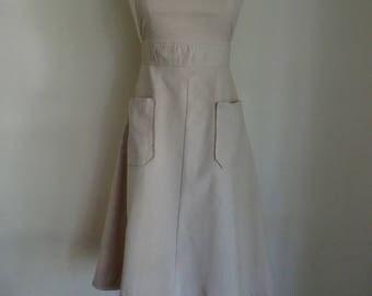 70's Dress Jumper Corduroy Cotton Bib Jumper Retro Small