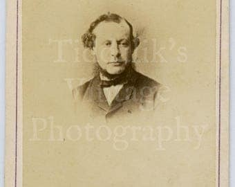 CDV Carte de Visite Photo Victorian Bearded Man Portrait by The Alexandra Studio of Westbourne Grove W England