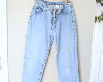 vintage 1980's high rise distressed jordache mom  jeans denim 30