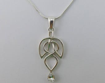 Leaf and Drop Necklace