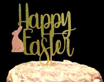 Easter cake topper, Easter decorations, Happy Easter cake topper, Happy Easter, Easter decor, Easter Party, Easter Party decorations