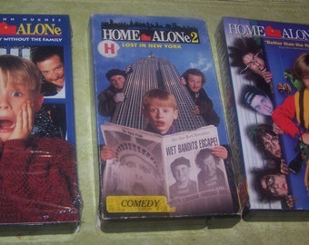 Home Alone, 1, 2, 3, Editions, VHS