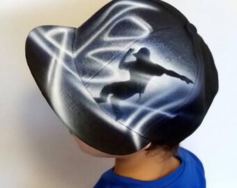 CUSTOM SNAPBACK hat  Street DANCE hip hop cap  Graffiti hat  Hand paint cap  Custom name airbrush baseball cap  Personalised gift lJosh hat