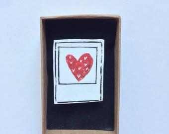 Vintage Love (Black & Red) Printed Badge
