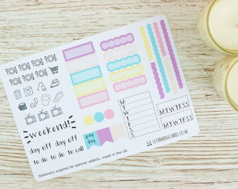 Hobonichi Weekly Planner Stickers; Spring Kit; Weekly Sticker Kit; Hobonichi Techo Cousin Sticker