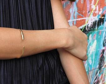 Gold Cuff Bracelet Minimalist Gold Bracelet for women thin gold cuff Bangle Bracelet Gold open cuff bracelet gold thin bracelet