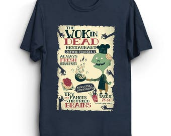 The Wok In Dead - Funny Cute Puns The Walking Dead Zombie T-Shirt