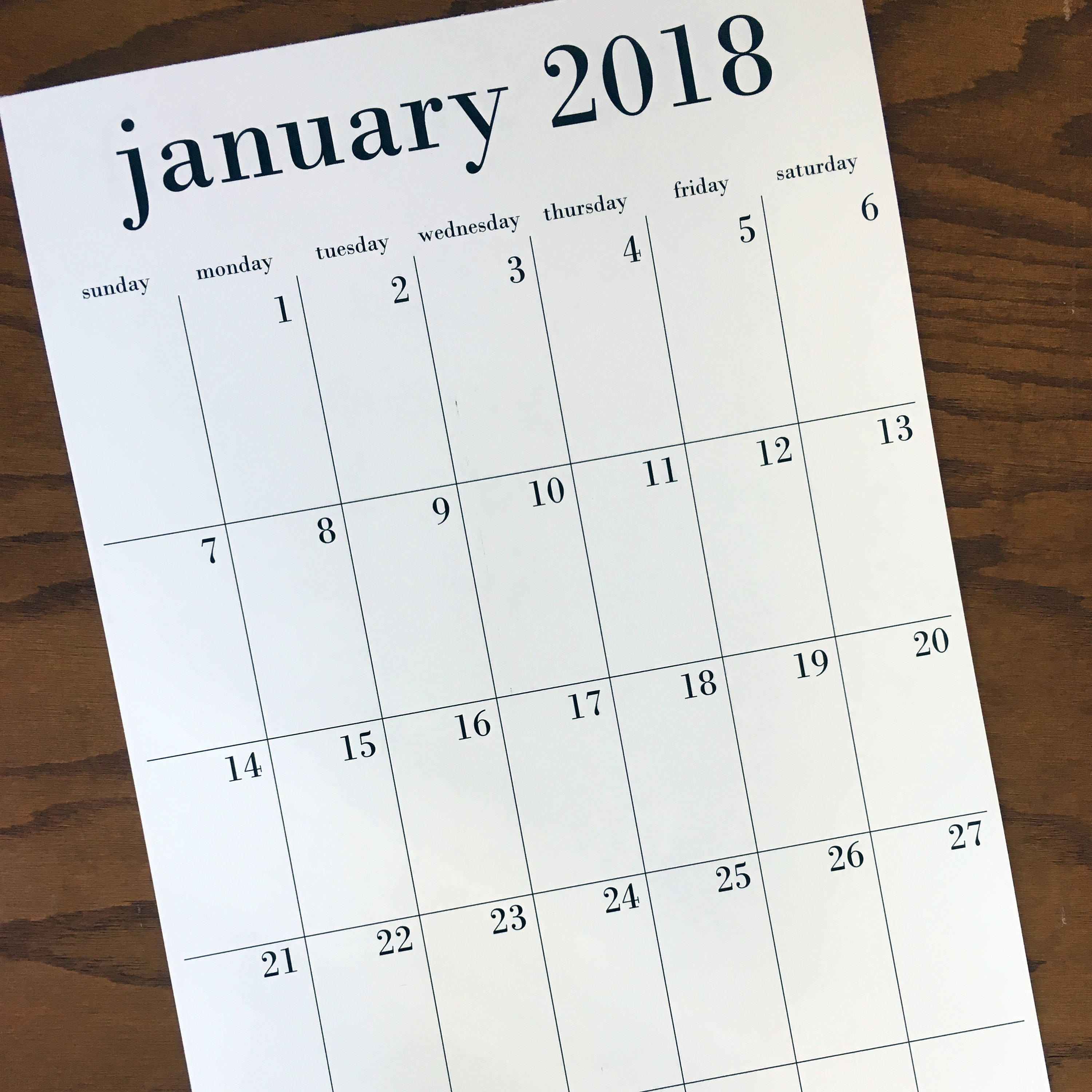 Rest Of Year Calendar : This is your year wall calendar option to add rest of