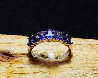 Iolite ring 925 Sterling Silver Ring / Iolite Ring Gemstone / 5x3 mm Calibrated / Blue Iolite Gemstone / Gemstone Ring / Silver Ring Stones