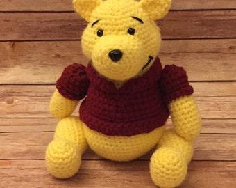 Crochet Winnie the Pooh Stuffed Animal
