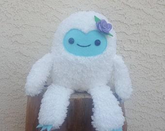 Yeti Plush - Abominable Snowman - Stuffed Monster - Kawaii Yeti - Ready to Ship!