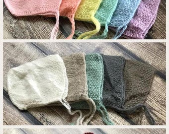 SALE Mohair Bonnet, Newborn Bonnet, Newborn Mohair Bonnet, Baby Boy Bonnet, Baby Girl Bonnet, Newborn Prop, Mohair Prop