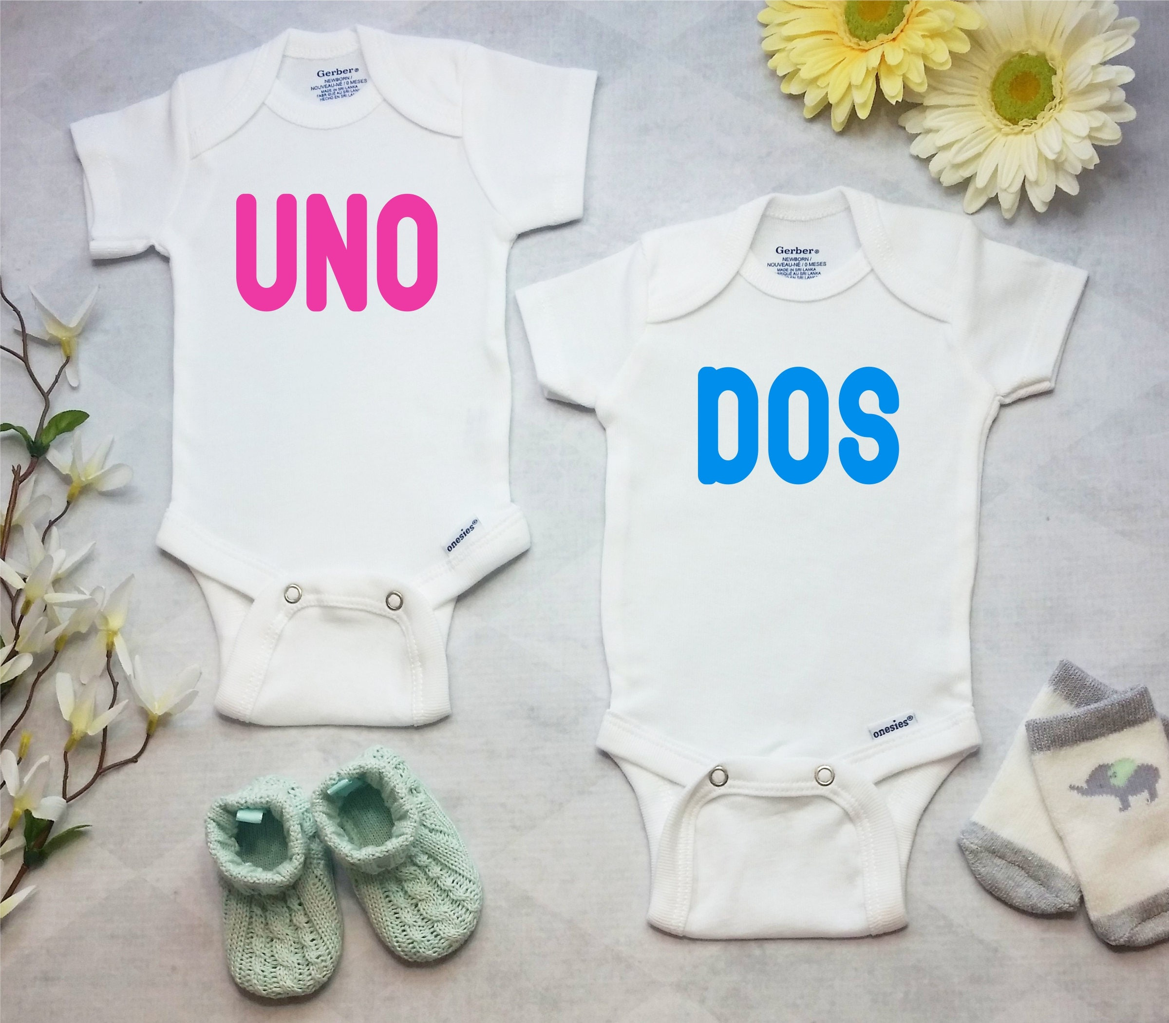 Twin Birth Announcement Onesies Brand Bodysuit Twin Take Home – Colorado Springs Birth Announcements