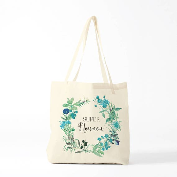 Gift Nanny, canvas bag, mint version.