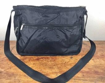Black LeSportsac, Large Purse, Bag, Shoulder Bag