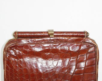 Cognac leather handbag