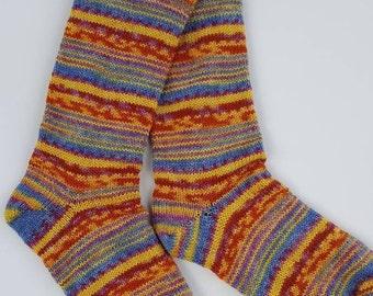 Hand Knit Wool Socks using a Circular Sock Knitting Machine - Superwash Merino