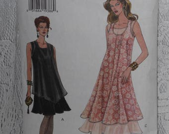 Vogue 9003 Pattern Misses' Tank Dress Tunic Top Flared Size 8 10 12 Easy