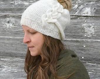 Hat knitting pattern / Slouch hat knitting pattern / Knit hat pattern / Cable knit hat / Cable hat pattern / Knitted hat / Adult hat pattern