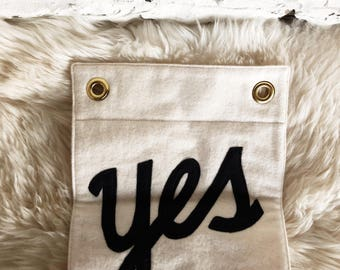 "Secret Holiday Co. ""yes"" banner"
