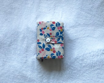 The Shelby - LDS Quad Cover in different sizes! Beige background with blue, yellow and pink floral details