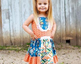 Girls Dresses - Toddler Dress - Girls Knot Dress - Boutique Dress - Knot Dress - Sun Dress - Party Dress - Birthday Dress - Summer Dress