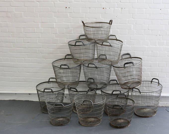 Belgian Steel Wire Potato Pickers Baskets Circa 1950s