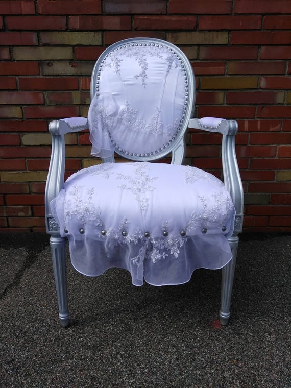 Customizable Wedding Dress Accent Chair