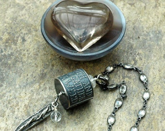 Wisdom Jewelry; Anne Choi Necklace; Quote Necklace; Crystal Necklace; Quartz Necklace; Statement Necklace; Truth; Inspirational