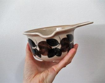 Arabia Finland Stoneware Sauce Bowl, dish, pot, Ruija, gravy boat, Mid Century, Scandinavian, Serving, kosmos, ruska, retro, anemone