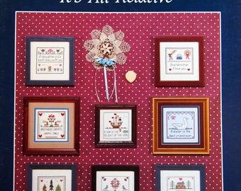 It's All Relative By Reba Wood Paterson Vintage Cross Stitch Pattern Leaflet 1987