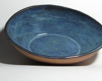 Blue Oval Bowl