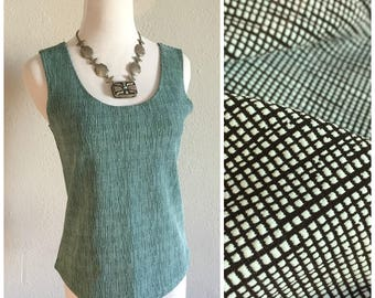 Minimalist Vintage Spandex Tank Abstract Top Stretchy 90s Shirt