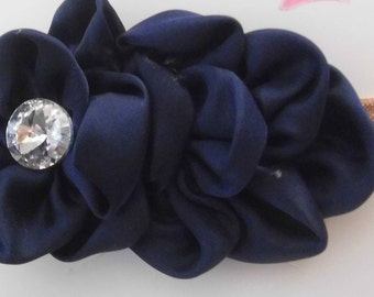 Large Satin Flower Headband