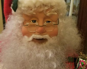 Vintage Santa Clause Holiday Lighted Motion Figure by Holiday Creations- Works!