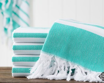 Spa Towel, Cotton Turkish Towel, Seafoam, Bath Towel, Sauna Towel, Beach Towel, Peshtemal