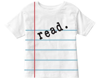 Toddler Notebook Paper Graphic© T-shirt! - Classic White - Fun and Unique Back to School Gift for Kids!