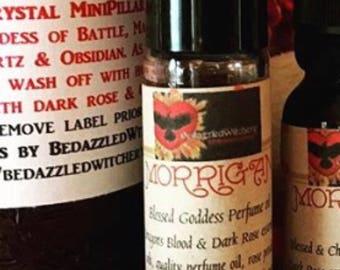 MORRIGAN Perfume Oil - NEW MOON Battle Raven, Celtic Goddess, Prophesy, Divination