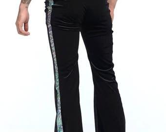 Mens Velvet Flares | 5 Colors | Burning Man, Festival Clothing for Men, Retro, Flares, Velvet, Rave, EDM