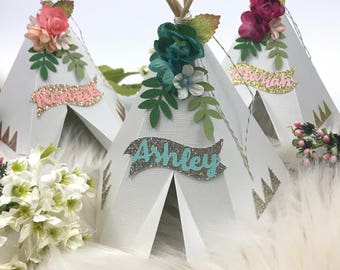 Boho Baby Shower, TeePee Cake Topper, Boho Cake Topper, Tribal Baby Shower, Boho Party Decorations, Boho Wedding, Boho Baby