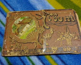 German Embossed Cover AUTOGRAPH Album  From 1906