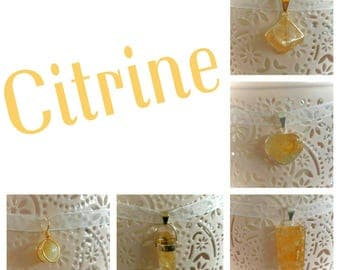 Necklace Citrine pendant lucky