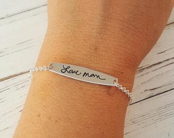 Signature Bracelet • Handwriting Bracelet • Custom Actual Handwriting Jewelry •  Memorial Personalized Keepsake Gift