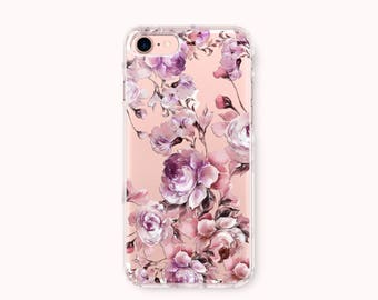 Floral iPhone 8 Case, iPhone 8 Plus Case, iPhone 7 Case, iPhone 6 /6S Plus Case, iPhone 5/5S/SE Case, Galaxy Case - Fall in Love-flower