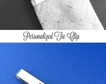 Personalized Hand Stamped Tie Clip, Custom Tie Bar, Boyfriend Gift, Father's Day Gift, Birthday Gift, Wedding Gift, Christmas Gift For Him
